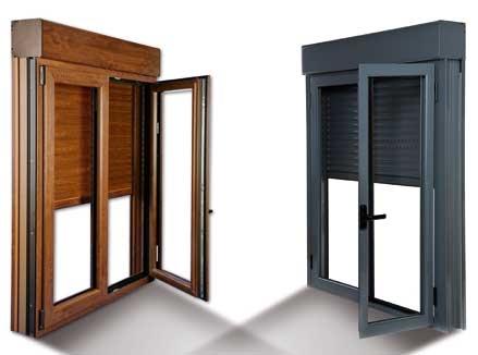Persiana compacto de aluminio pvc for Precio ventana pvc con persiana