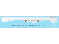 Riel extensible blanco CON CORDON